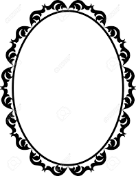 silhouette ornamental frame oval royalty free cliparts vectors