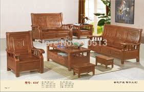 living room wood furniture wooden sofa set good quality furniture for living room or office