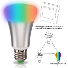 Changing Color Light Bulbs Supli 10w Timing Remote Controller Rgb Color Changing Led Light