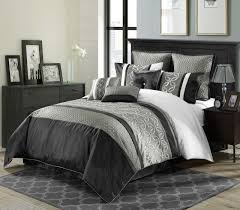 White Bedspread Bedroom Ideas Black And White Comforter Sets Full Leaves Pattern Desk And White