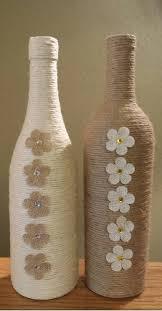 Wine Bottle Home Decor Stunning Twine Wrapped Wine Bottle By Stunningbottlesart On Etsy