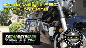 goldwing driving lights reviews install socalmotogear rectangular led fog lights on valkyrie f6c
