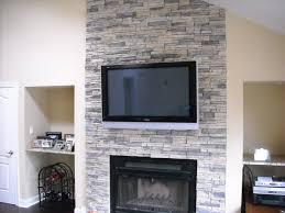 stone veneer over brick fireplace u2014 decor trends amazing stone