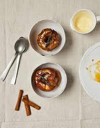 cuisine au four pommes au four crème anglaise pour 4 personnes recettes à table