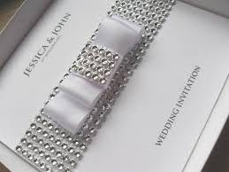 Silver Wedding Invitations Luxury Ivory U0026 Silver Wedding Invitation Gem Border Detail