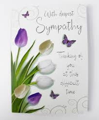 sympathy card with deepest sympathy card luxury quality verse greetings large