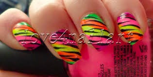 love4nailart easy neon animal print nail art for summer tutorial