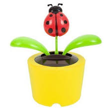 Ladybug Desk Accessories Solar Power Desk Accessory Insect Flower