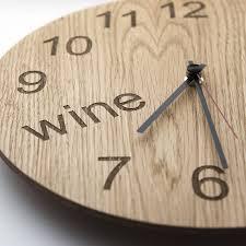 wine o u0027clock clock by james design notonthehighstreet com
