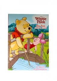 pooh colouring book