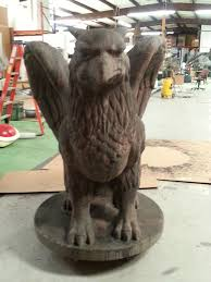 foam and concrete griffin gargoyle sculpture statue prop perfect
