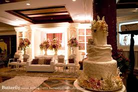 wedding cake indonesia bright batik butterfly event styling