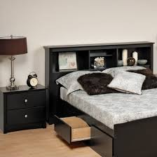 bedroom set walmart prepac sonoma black full queen wood bookcase headboard 2 piece
