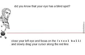 Blind Spot In Left Eye Wake Up People