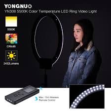 remote audio video lighting yongnuo yn308 5500k color temperature wireless remote led ring video
