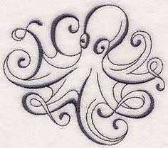 inky octopus 2 design m6592 from www emblibrary com octopus