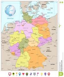 Bremen Germany Map by Administrative Divisions Map Of Germany With Flat Icons Stock