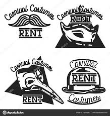 rent carnival color vintage carnival costumes rent emblems stock vector