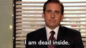 as a college student as told by the office