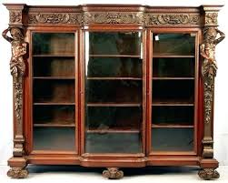 Mahogany Bookcase With Glass Doors Antique Glass Door Bookcase Bookcase With Glass Door Medium Size