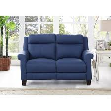 blue reclining sofa and loveseat hydeline by amax dolce top grain blue leather power reclining