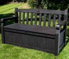 Garden Bench With Storage Iceni 2 Seater Storage Bench Brown Wood Effect 129 99
