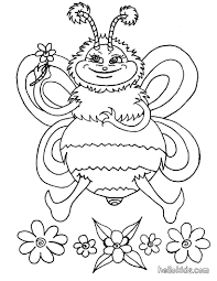 bumble bee coloring pages hellokids com