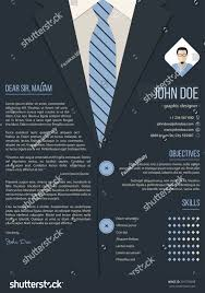 cool cover letter resume cv template stock vector 291376688