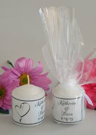 candle favors candle wedding favors