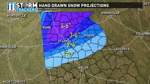 Weather Map Atlanta by Winter Storm Warning In Effect For Metro Atlanta And North Georgia