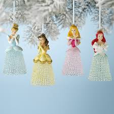sparkly disney princess ornaments disneyprincesswmt