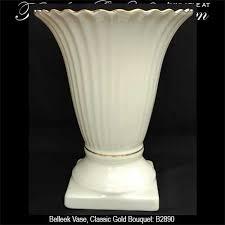 Classic Vases Belleek Vase Classic Gold Bouquet