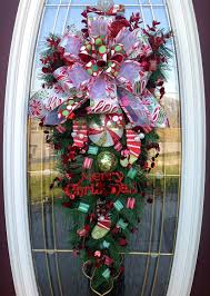 big front doors teardrop wreath wreath door wreath