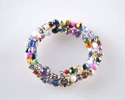 glass beaded bracelet images Cali quot multi color glass beaded bracelet chickwares jpg