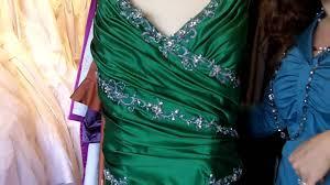 emerald green wedding dress youtube