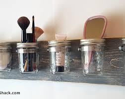 Mason Jar Bathroom Organizer Mason Jar Decor Bathroom Organizer 3 Jar Vertical Toothbrush