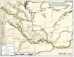 Washington Highway Map by Washingtonhighways 1915 Jpg