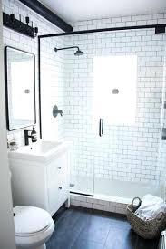 white tile bathroom ideas subway tile bathroom exle of a trendy master white tile and