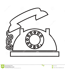 telephone with dial stock vector image 52447220