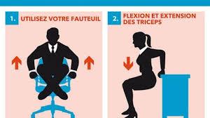 exercice au bureau 15 exercices faciles à faire au bureau ni vu ni connu