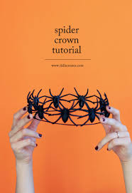 cobweb spray for halloween easy diy spider crown tutorial for halloween haute halloween