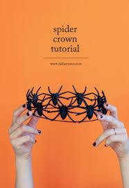 easy diy spider crown tutorial for halloween haute halloween
