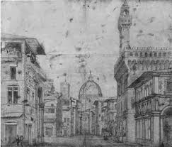 cupola s fiore perspective drawing of palazzo vecchio and brunelleschi s cupola