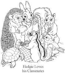 hedgie loves his classmates