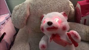 feral fuzzy white bear morbid enterprises animated halloween