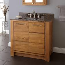 bahtroom contemporary arched crane above white sink on teak