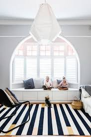 open living room inspiration grey walls large striped rug