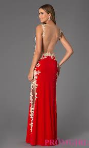 sheer back lace jvn by jovani lace prom dress