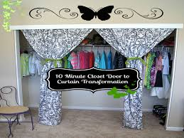 Diy Closet Door 10 Minute Diy Closet Doors To Curtain Project The Best Of