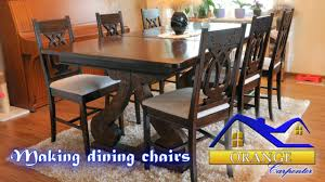 making dining chairs from oak boards youtube